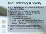iron deficiency toxicity