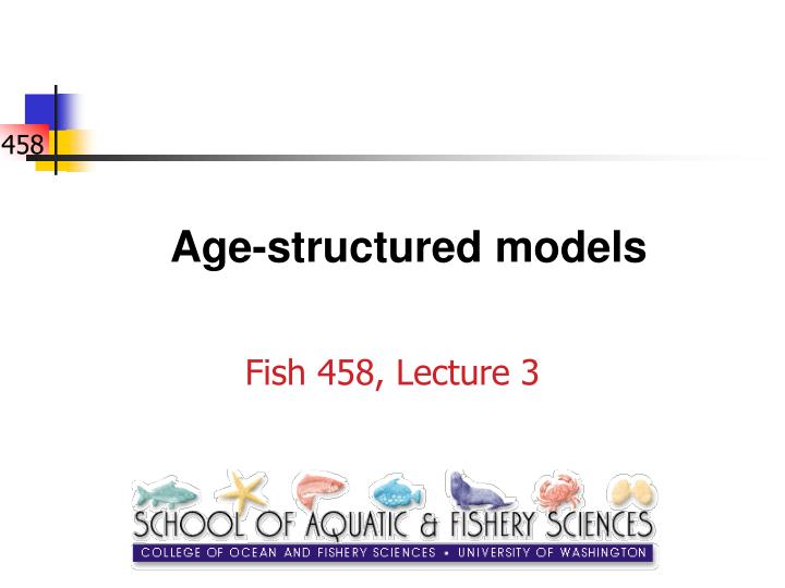 age structured models n.