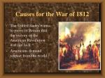 causes for the war of 18126