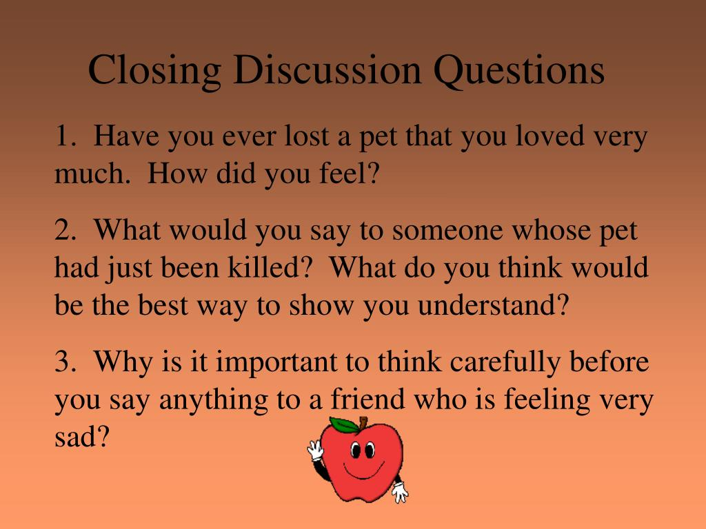 Closing Discussion Questions