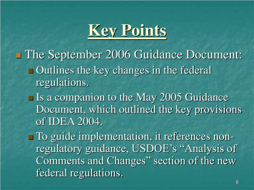 PPT - IDEA 2004: The Federal Implementing Regulations
