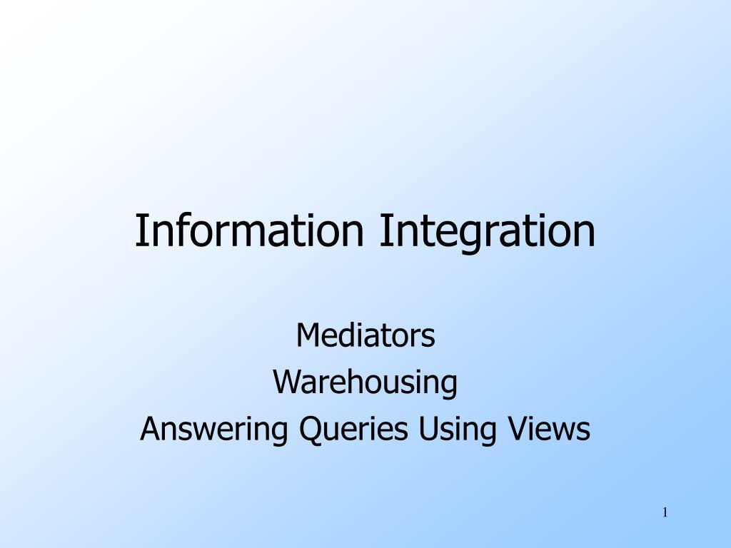 information integration l.