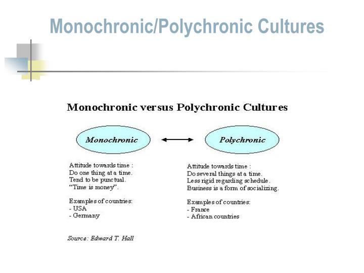 monochronic culture examples