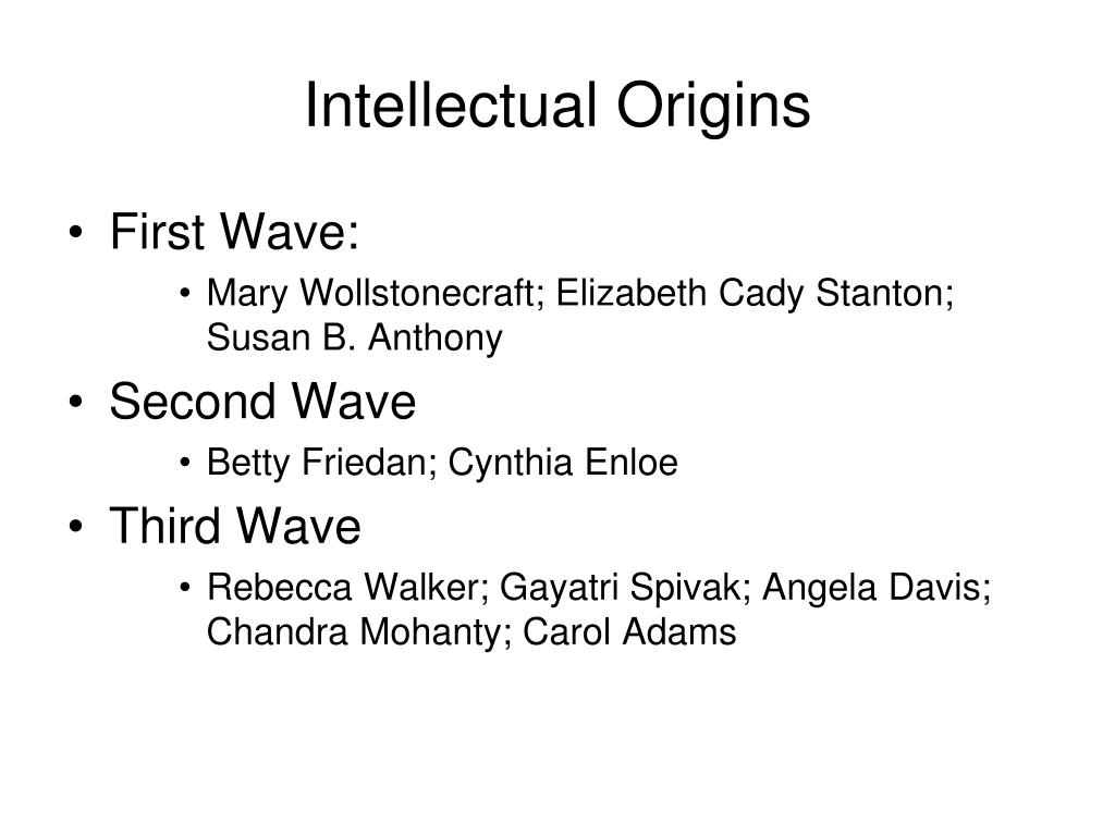 Intellectual Origins