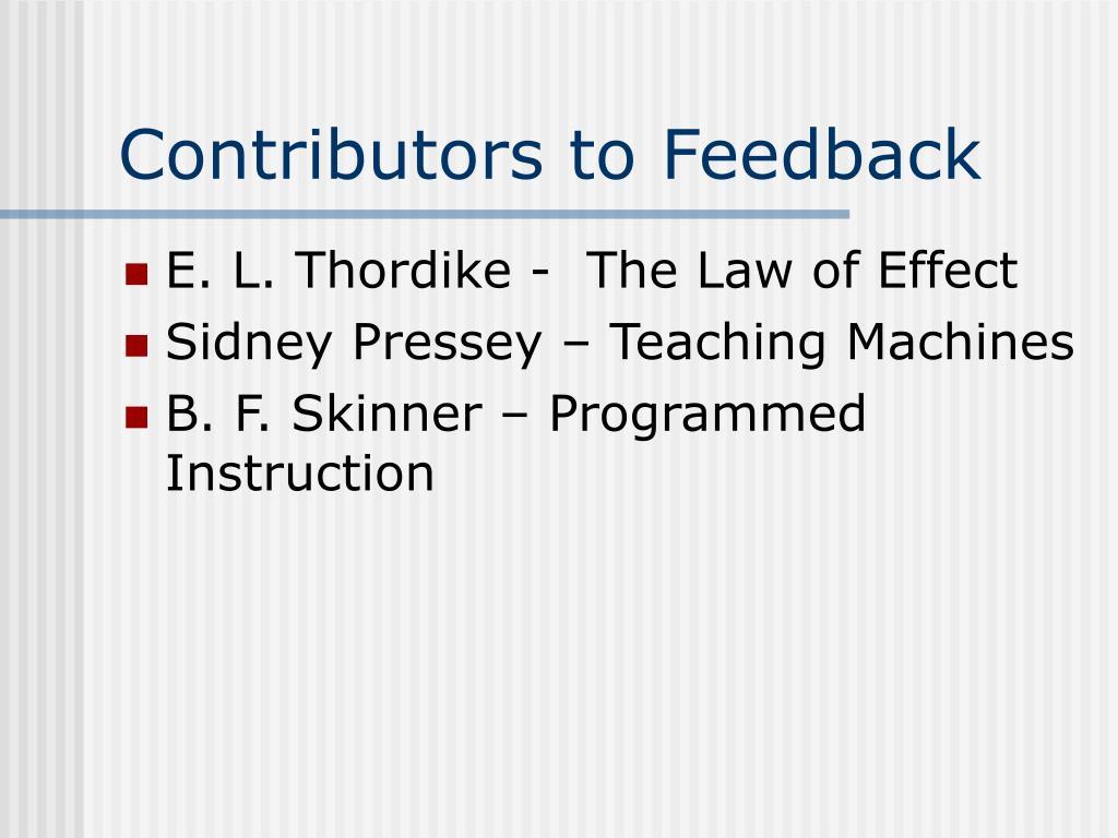 Contributors to Feedback