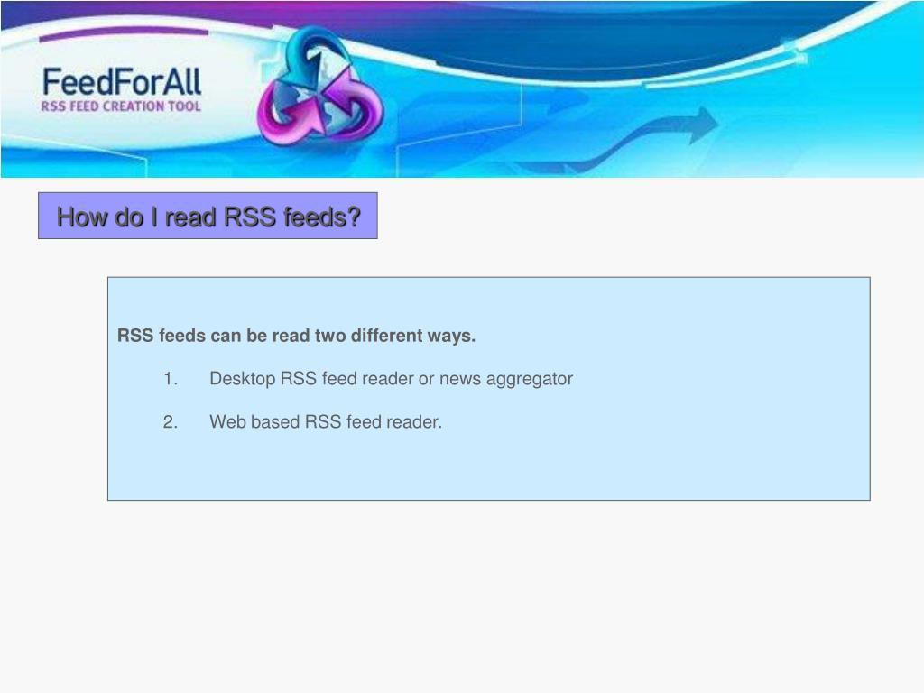 How do I read RSS feeds?
