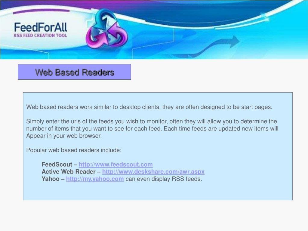 Web Based Readers