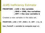 jlms inefficiency estimator