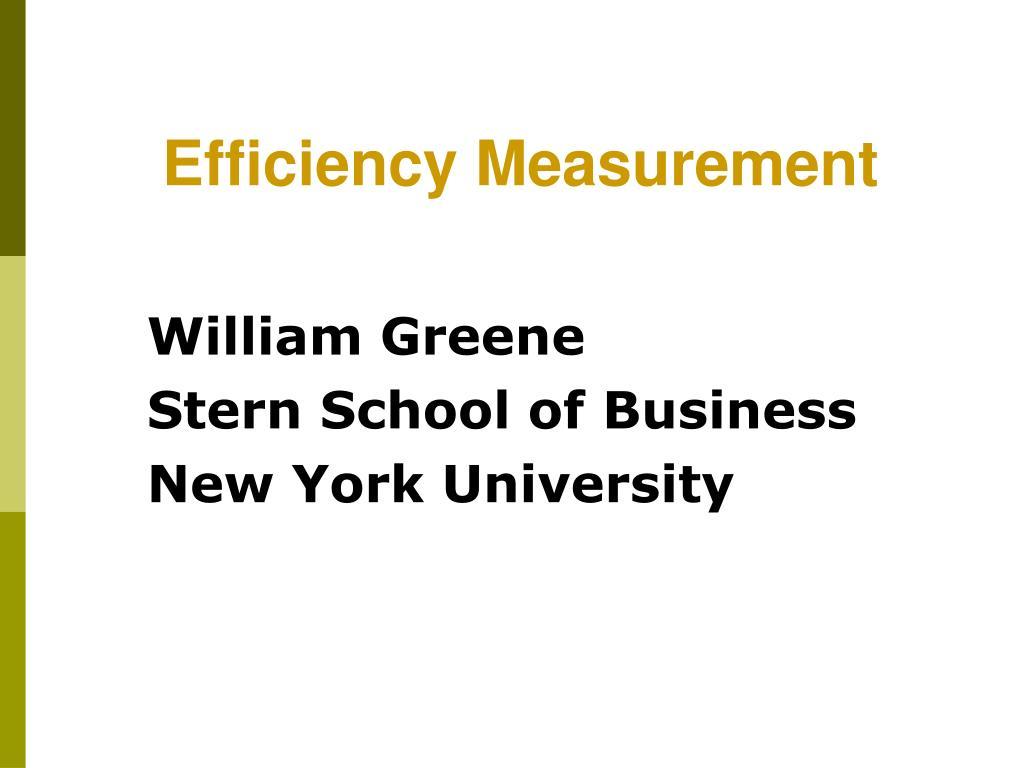 william greene stern school of business new york university l.