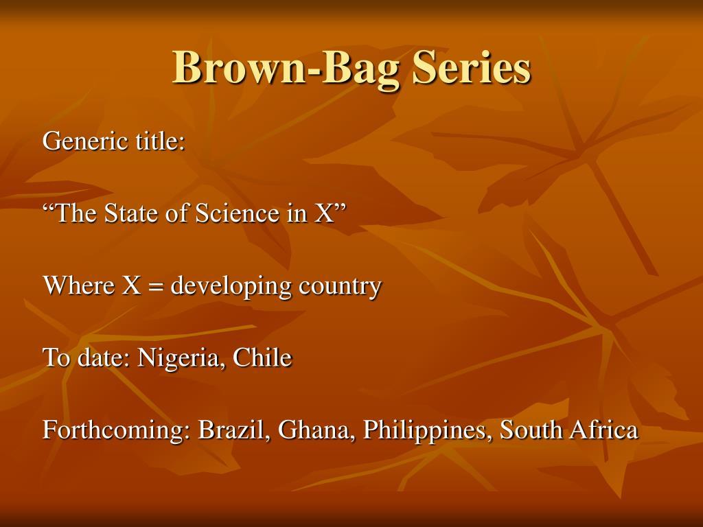 Brown-Bag Series