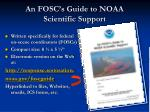 an fosc s guide to noaa scientific support