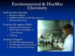 environmental hazmat chemistry
