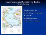 environmental sensitivity index esi maps