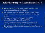 scientific support coordinator ssc