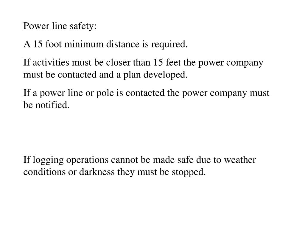 Power line safety: