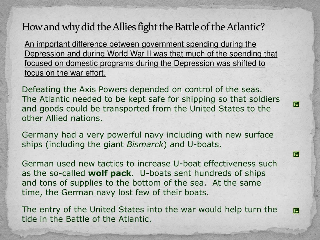 How and why did the Allies fight the Battle of the Atlantic?