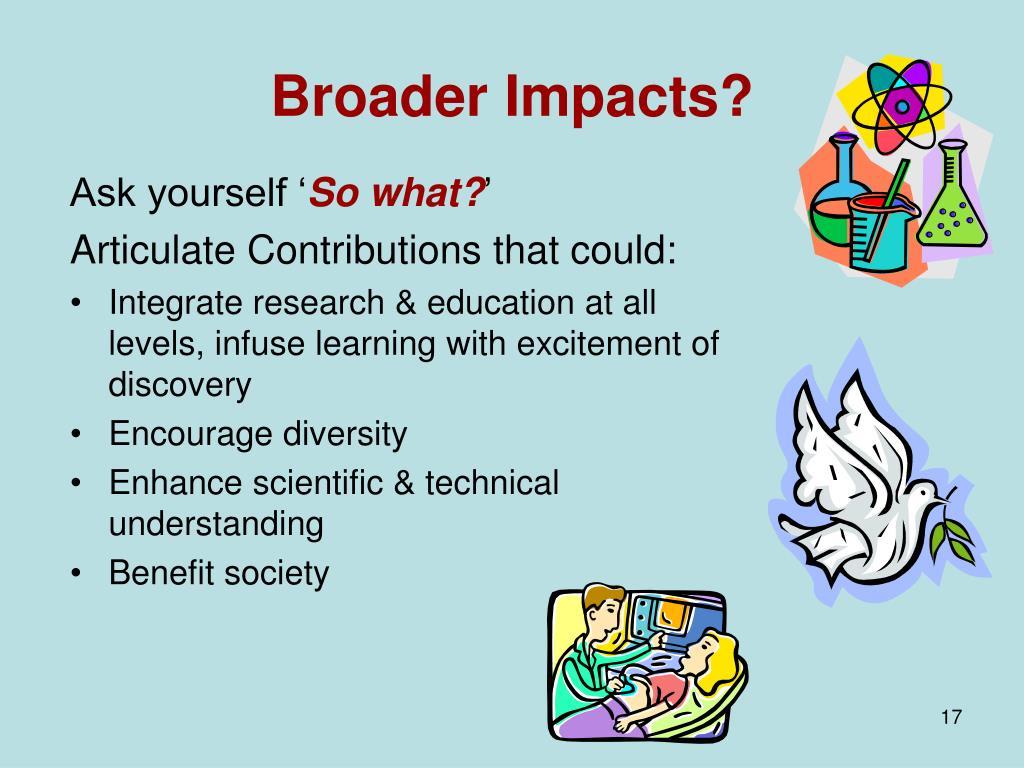 Broader Impacts?