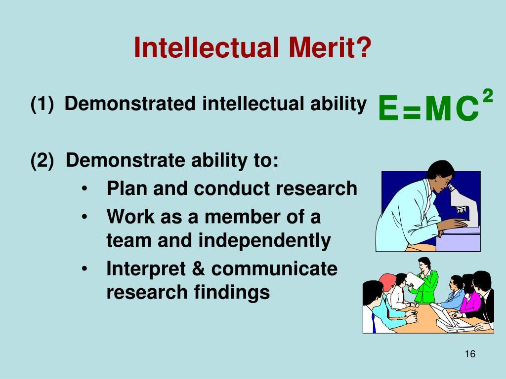 Intellectual Merit?