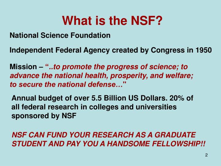 What is the nsf