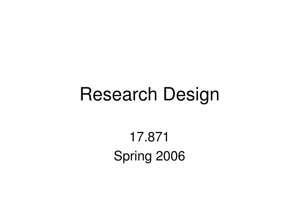 research design l.