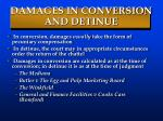 damages in conversion and detinue