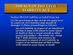 impact of the civil liability act