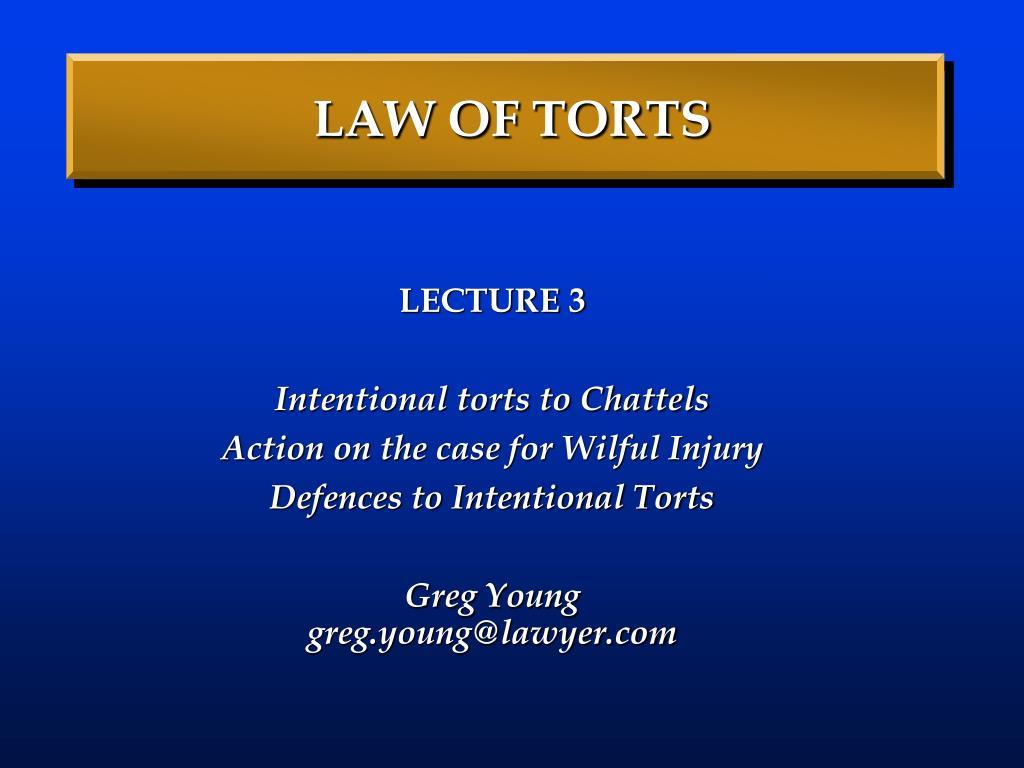 law of torts l.