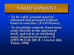 valid consent
