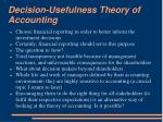 decision usefulness theory of accounting
