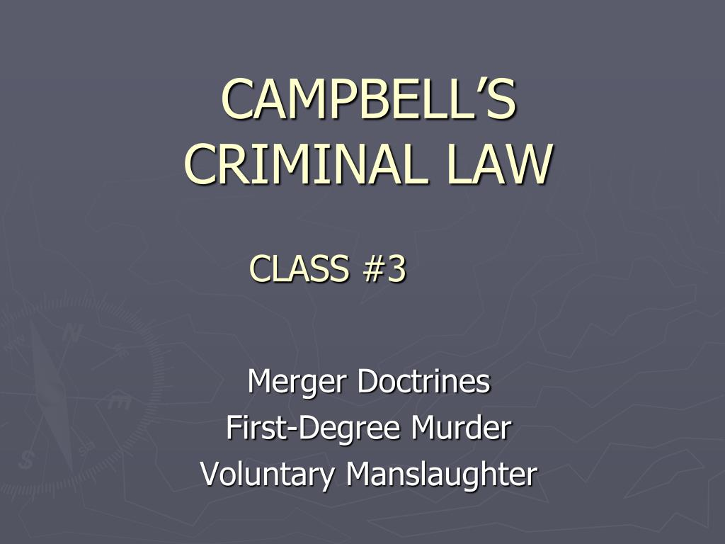campbell s criminal law l.