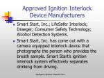 approved ignition interlock device manufacturers