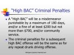 high bac criminal penalties