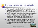 impoundment of the vehicle