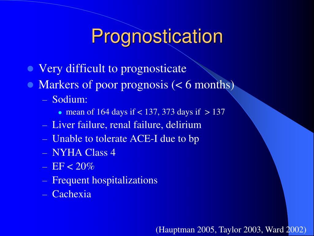 Prognostication