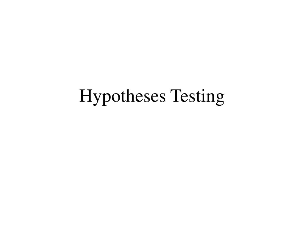 hypotheses testing l.