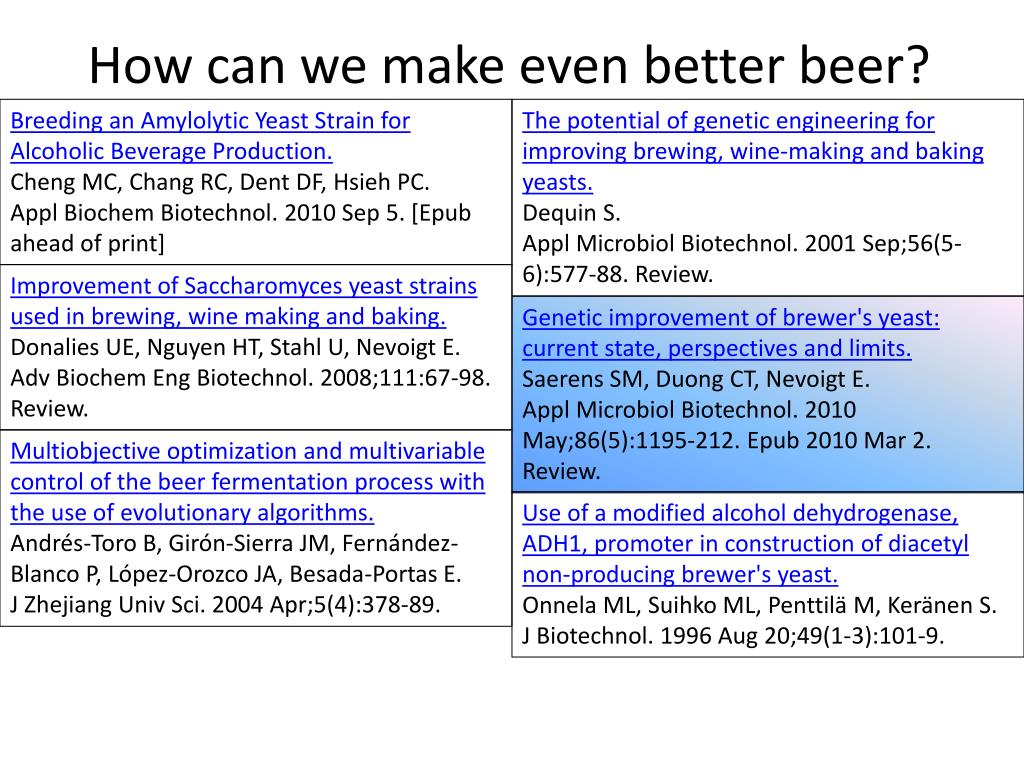 PPT - The science of malting, brewing, and fermenting beer