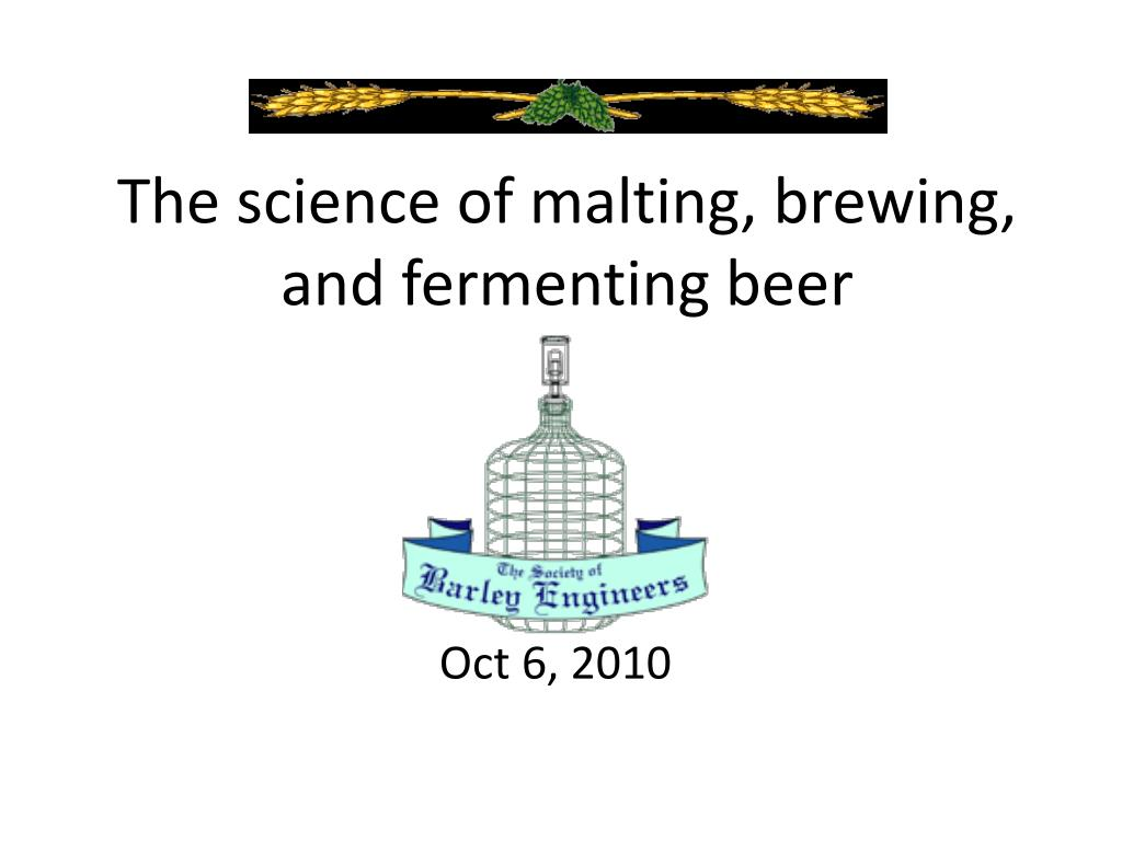 the science of malting brewing and fermenting beer l.
