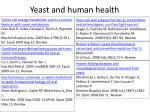 yeast and human health