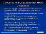 colicheck and colicheck with mug description