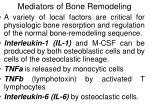 mediators of bone remodeling58