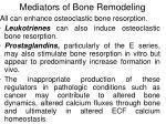 mediators of bone remodeling59