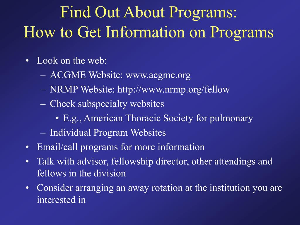 Find Out About Programs: