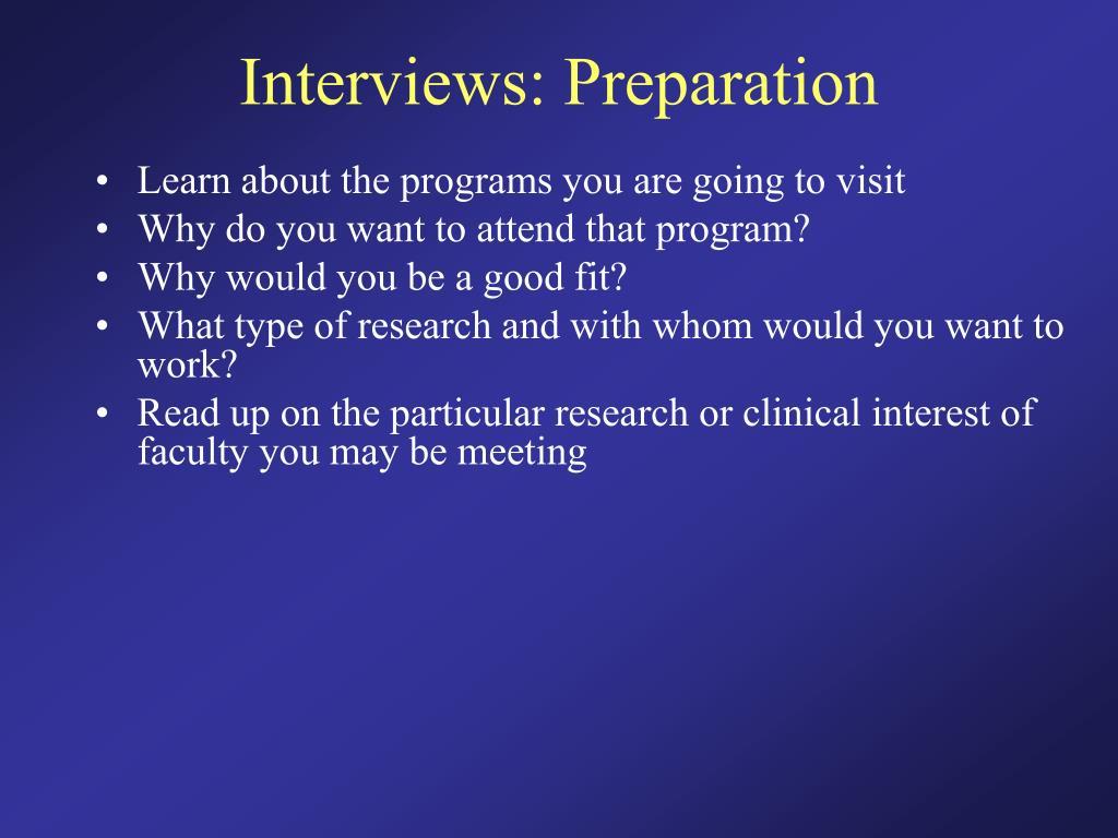 Interviews: Preparation