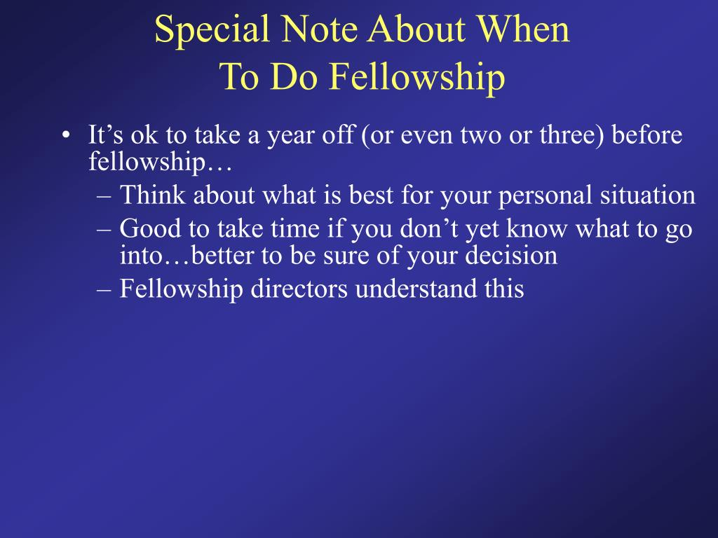 Special Note About When