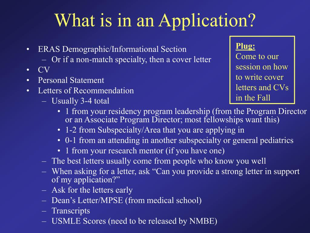 What is in an Application?