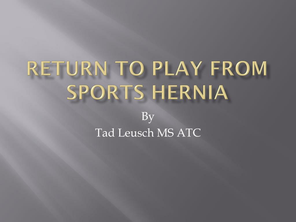 return to play from sports hernia l.