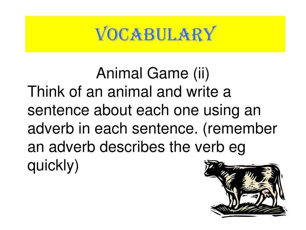 Animal Game (ii)
