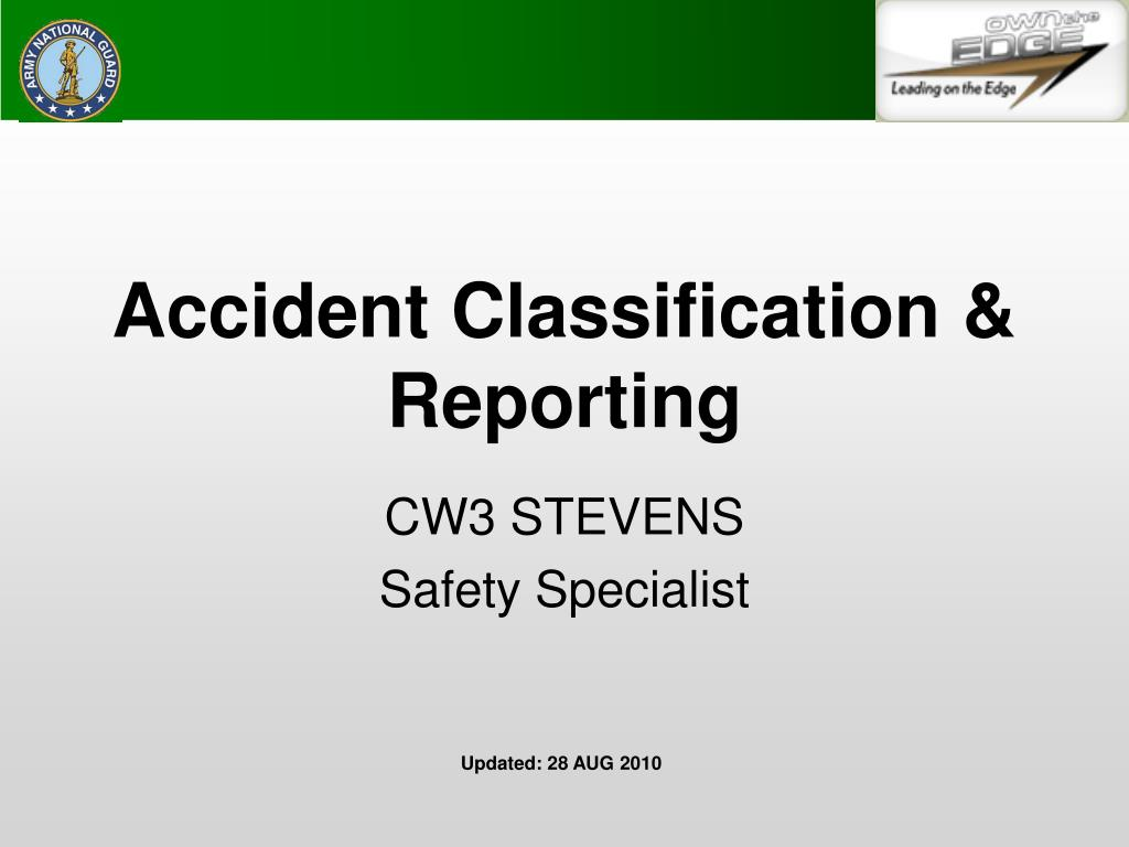 accident classification reporting l.