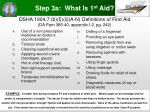 osha 1904 7 b 5 ii a n definitions of first aid da pam 385 40 appendix i 2 pg 242
