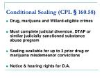 conditional sealing cpl 160 58